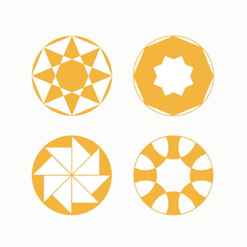 Geometrische Kreisbilder konstruieren mit Zirkel und Lineal