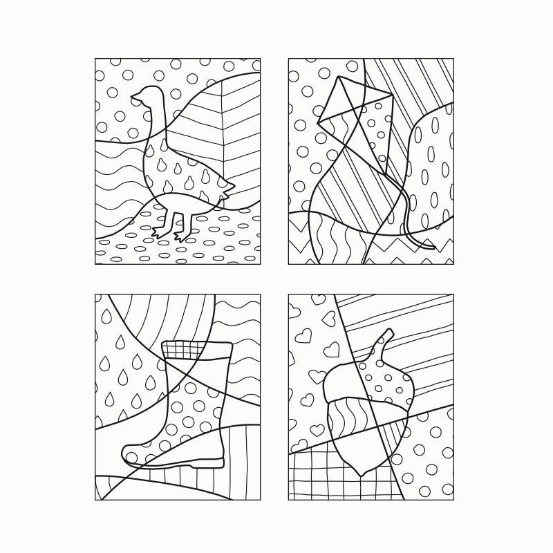 popart  herbst pdf  ausmalbilder  malen  zeichnen