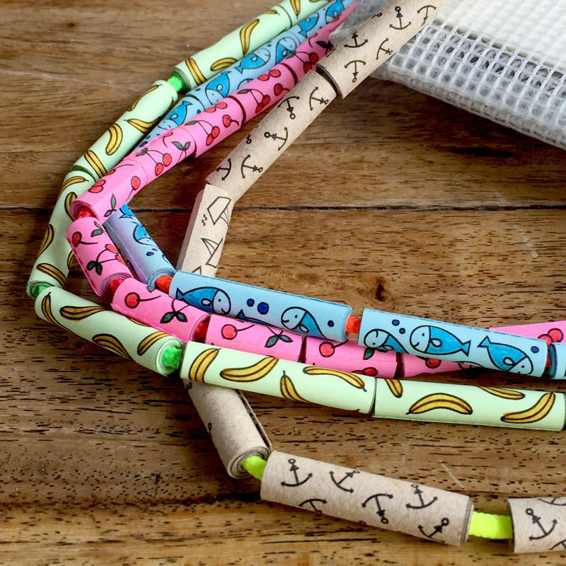 Papierperlen mit Kindler-Doodles selber basteln