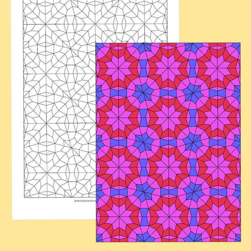 ausmalen orientalische ornamente pdf basteln malen lernen spielen labb. Black Bedroom Furniture Sets. Home Design Ideas