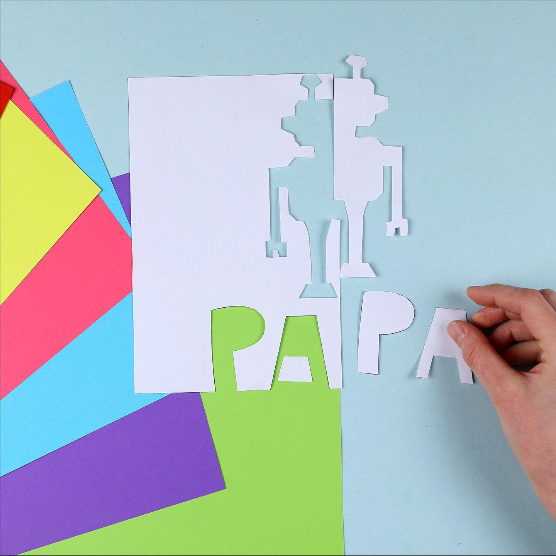 vatertag  klappschnittkarten pdf  schneiden  basteln