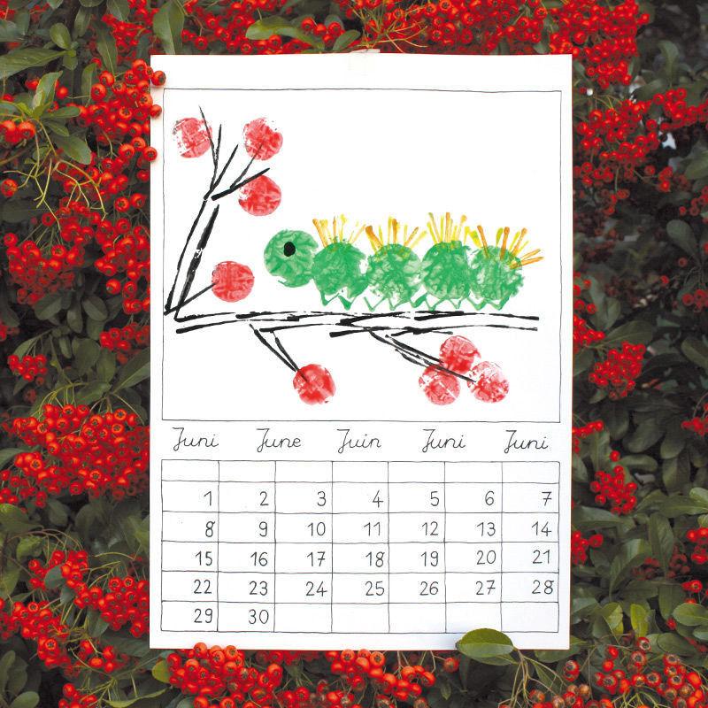Malkalender basteln malen lernen spielen labb for Kalender basteln ideen