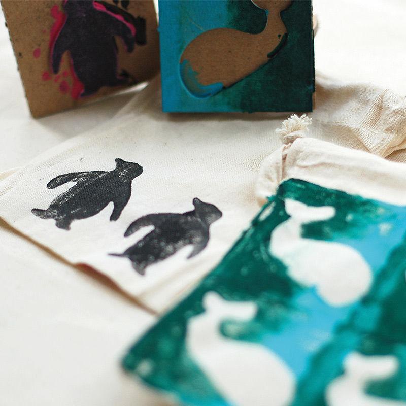 Kartonstempel Tiere & Pflanzen
