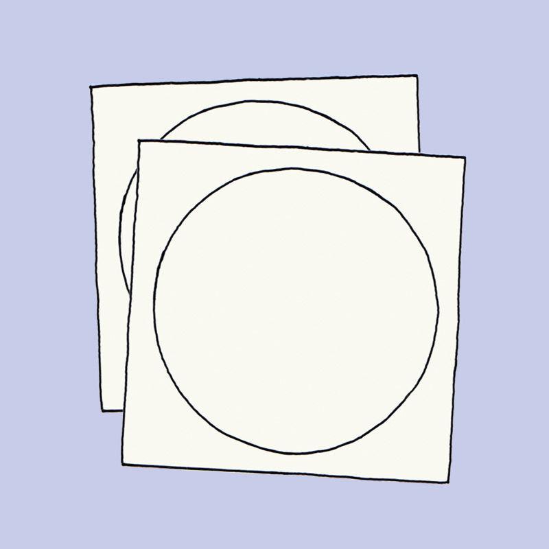Pergament-Zuschnitte für die Trommellaterne