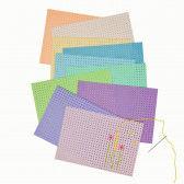 Stickkarton pastellfarben, 10 Blatt