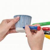 """Porzellan-Stift, wird durch """"einbacken"""" bei 160° C spülfest."""