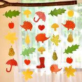 Herbstketten aus Papier zum Aufhängen