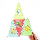 Weihnachtsbaum-Puzzle zusammenkleben