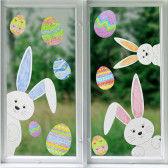 Ostern-Fensterbilder als süße Fensterdeko