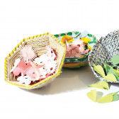 Webkorb basteln für Ostern und Frühling