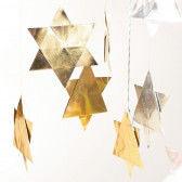 Goldsilber-Faltsterne gibt es in 3 verschiedenen Formen