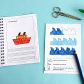 Erstes Schneiden Buch mit Übungen zum Schneiden lernen für Kinder