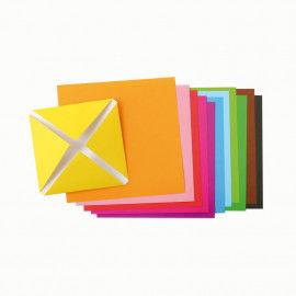 Buntes Origami-Faltpapier mit weißer Rückseite