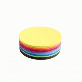 Runde Faltblätter in bunten Farben