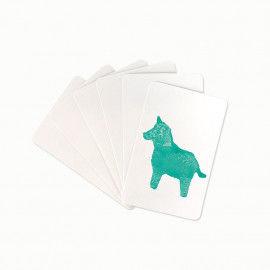 Weiße Blanko Spielkarten zum Bemalen