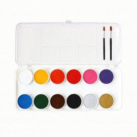 Schmink-Farbkasten mit 12 Farben