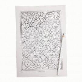 """Transparentes Pergamentpapier zum Durchpausen - Musterbeispiel aus """"Ausmalen – Ornamente aus aller Welt PDF"""""""