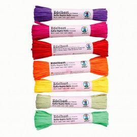 Bast aus Viskose in bunten Farben