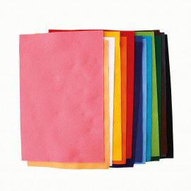 Filzplatten in vielen bunten Farben