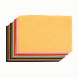 Filzplatten Sortiment pastell (Erdfarben)