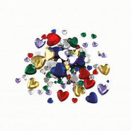 Schmucksteine Herzen, ca. 450 Stück, farbsortiert