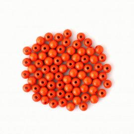 Holzperlen Ø 8 mm - orange
