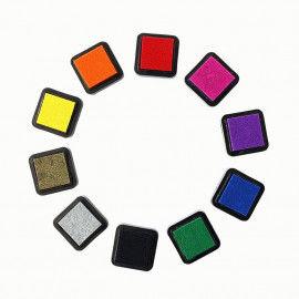 10 Stempelkissen in bunten Farben