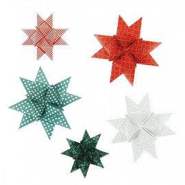 Fröbelsterne mit modernen Weihnachtsmustern