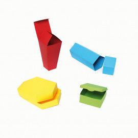 Kartonschachteln in verschiedenen Formen und Größen zum Ausdrucken