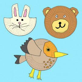 Witzige Tiere aus Papptellern basteln