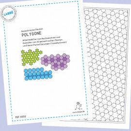 Beispielseiten aus dem PDF mit Arbeitsblättern zum Nachzeichnen von 20 Polygonen