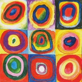 Ausschnitt Farbstudie nach Wassily Kandinsky