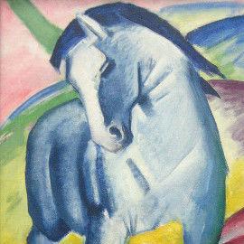 Franz Marc - Blaues Pferd I - Malvorlagen und Wandbild für die Gruppenarbeit