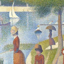 Sonntagnachmittag auf der Insel La Grande Jatte - Wandbild