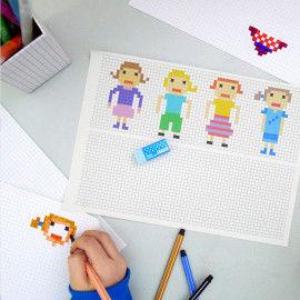 Pixel-People zum Nachkonstruieren