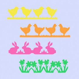 Oster-Papierketten mit 12 verschiedenen Ostermotiven