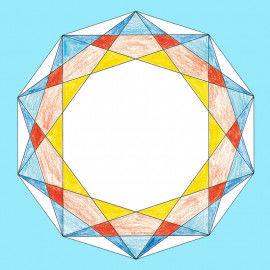 Geometrische Mandalas zum Ausmalen