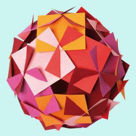 Faszinierender Steckkörper aus Quadraten