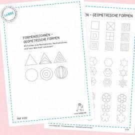 Beispielseiten aus dem PDF Formenzeichnen - Geometrische Formen