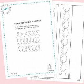 Beispielseiten aus dem PDF Formenzeichnen - Bänder