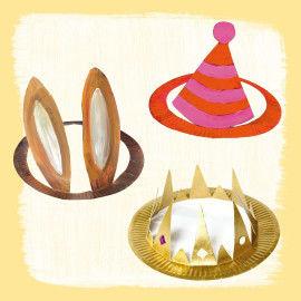 Hüte basteln aus Papptellern