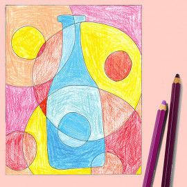 Abstract Art Vorlagen mit Mustern und Motiven