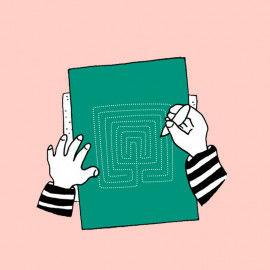 Tast-Labyrinthe zum Pricken und zum Nachspüren