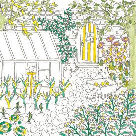 Ausmalbilder mit Gartenmotiven