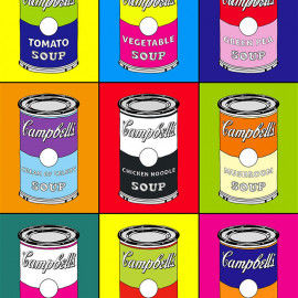 Suppendosen Pop-Art Farbstudie nach Andy Warhol