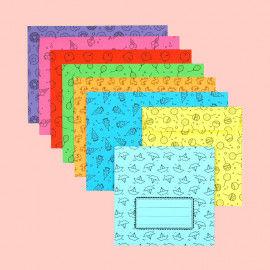 Briefumschläge basteln mit gemusterten Vorlagen zum Ausdrucken