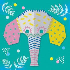 Origami Maske - Elefant