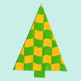 Flecht-Weihnachtsbaum mit Wellenlinien