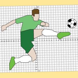 Koordinatengrafiken mit Fußball-Motiven konstruieren