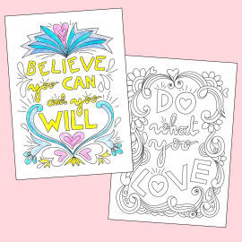 Motivationsposter zum Ausmalen - Believe that you can